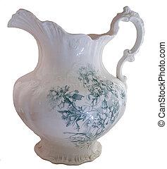 Green Floral Pitcher - A green floral pitcher from an ...