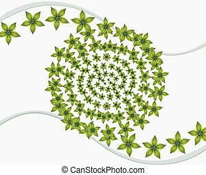 Green Floral Spiral