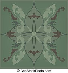 Green Floral Tile