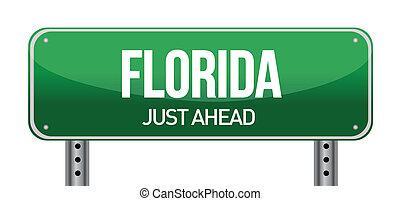 green Florida, USA street sign illustration design over...
