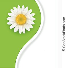Green flower Background