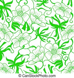 Green Flower background.