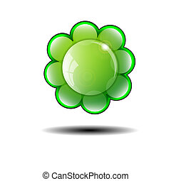 Green Flower Background. Vector illustration.