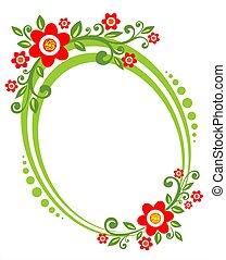 green flower border