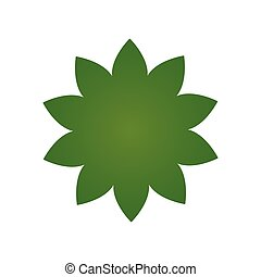 Green flower icon, Pictograph of flower. vector illustration isolated on white background.