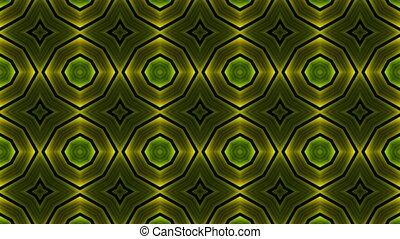 green flower metal background.