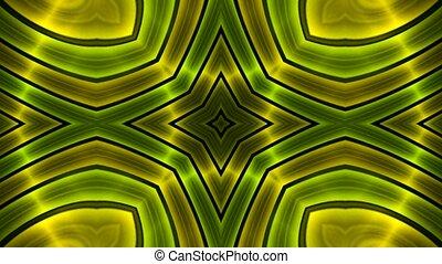 green flower metal background