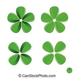 green flower vector illustration