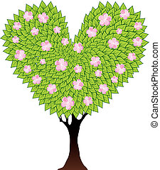 green flowering tree