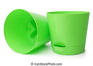 Green flowerpots