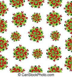 green flowers on a white background pattern
