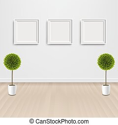 Green Flowers With And Picture Frame
