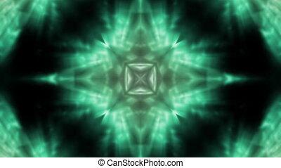 Green flowing VJ Loop Abstract