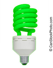 Green fluorescent light bulb