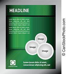 Green Flyer template design