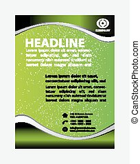 Green Flyer template design
