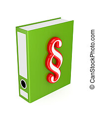 Green folder with red paragraph symbol
