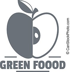 Green food logo, vintage style