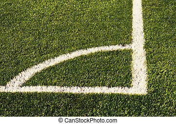 Green football field grass.Texture