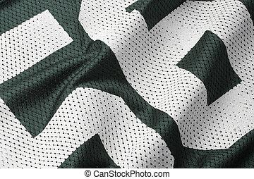 Green football Jersey - Close up shot of green textured...