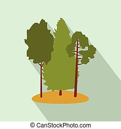 Green forest flat icon