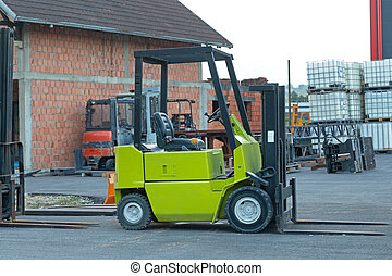 Green Forklift Truck