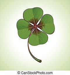 green four-leaf clover
