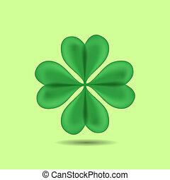 Four-Leaf Clover - Green Four-Leaf Clover. Patrick day. ...
