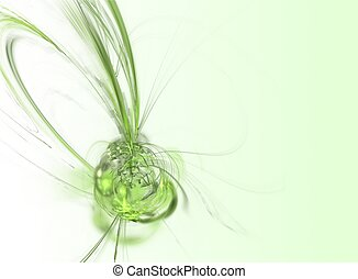 Green Fractal Background Abstract