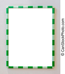 Green frame border with white blank copy space