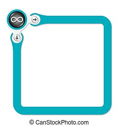 Green frame for your text and infinity symbol