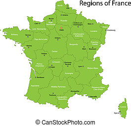 Green France map