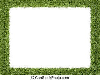 Green fresh grass frame: ecology and environment