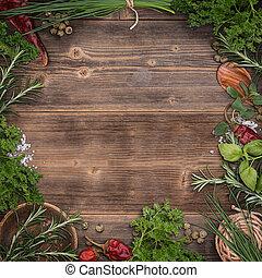 Green fresh herbs