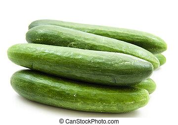 Green fresh salad cucumbers