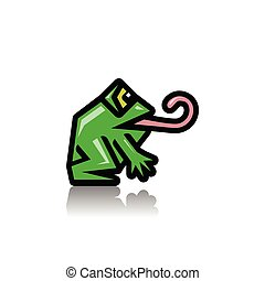 Green frog as an icon