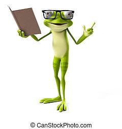 Green frog character