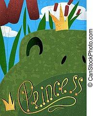 frog princess with crown