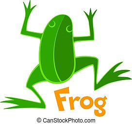 Green frog. Vector icon