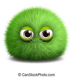 green furry alien