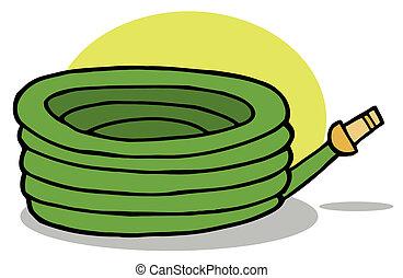 Green Garden Watering Hose