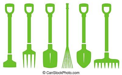 green gardening tools set