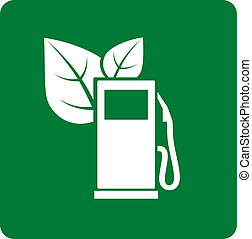 green gas station icon - abstract green gas station icon...