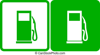 green gas station icons