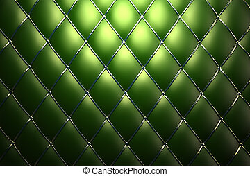 Green genuine leather pattern background