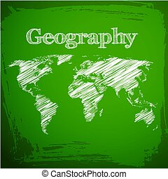Green Geography Background