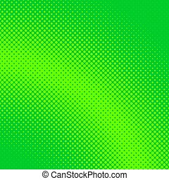Green geometric abstract halftone circle pattern background...
