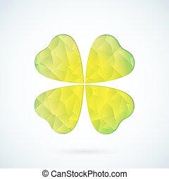Green geometric clover vector background