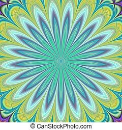 Green geometric floral fractal design background