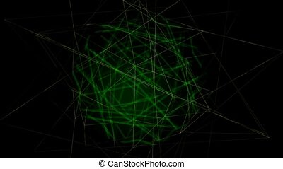 Green Geometric Lines